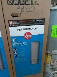 gray Rheem water heater box Los Angeles, 90001