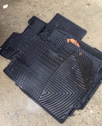 Weathertec rubber mats five pieces