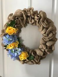 Summer burlap wreath New Tecumseth, L9R