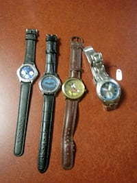 Four Custom Watches for Sale.