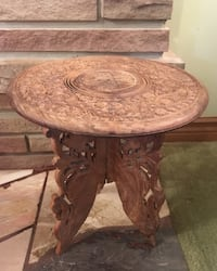 "Vintage wooden hand carved plant stand from India Hamilton west mtn 12""tall 12""wide Hamilton, L9C"