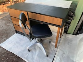Mod Desk and Vintage Chair