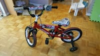 toddler's red and black bicycle with training whee 548 km