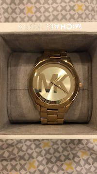 round silver Michael Kors analog watch with link bracelet Washington, 20011