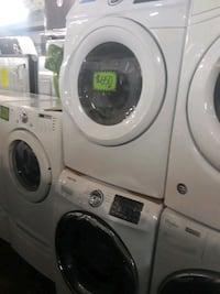 Samsung front load washer and dryer set excellent  Baltimore, 21223