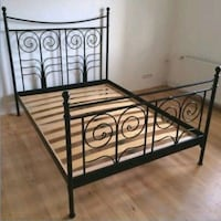 Quen size bed frame  Toronto, M9M