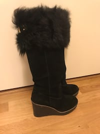 UGG Svart suede støvler = -high wedge boot 6237 km