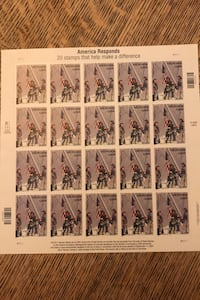 2001  HEROES  AMERICA RESPONDS    FULL SHEET OF U S  STAMPS Alexandria, 22303