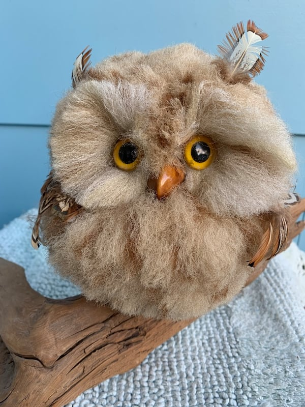 Vintage Faux Owl Perched on Driftwood Mid-Century Kitschy Home Decor 0e9aeec3-3c3e-42a6-9051-9168a7e2bc71