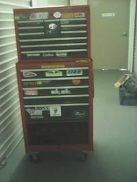red and black tool chest
