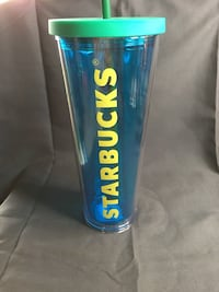 Starbucks Blue and Green Plastic cup 21 km