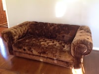 brown and red floral fabric 2-seat sofa Ashburn, 20147