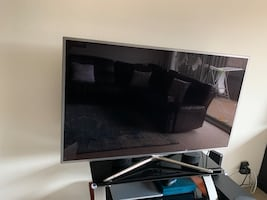 """60"""" tv & tv stand"""