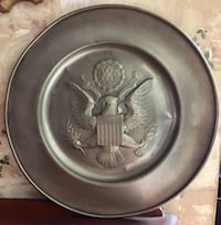 """American Eagle Seal Pewter Plate 13"""""""