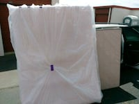 Queen memory foam, box spring, and frame