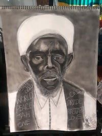 Jamica Priest Emmanuel charcoal drawing by Godly P Las Vegas, 89169