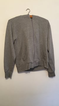 Sweat à capuche zippé gris Chessy, 69380