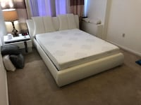 $29 DOWN NO CREDIT NEEDED WHITE PUT QUEEN PLATFORM BED FRAME ONLY College Park