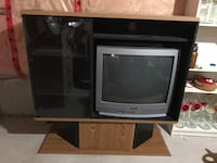 A very good condition entertainment unit with color tv Richmond Hill