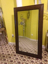 rectangular brown wooden framed mirror Ellicott City, 21042