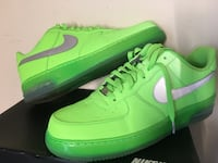Nike iD Men's AF1 low size13 green w/ 3M swoosh 48 km