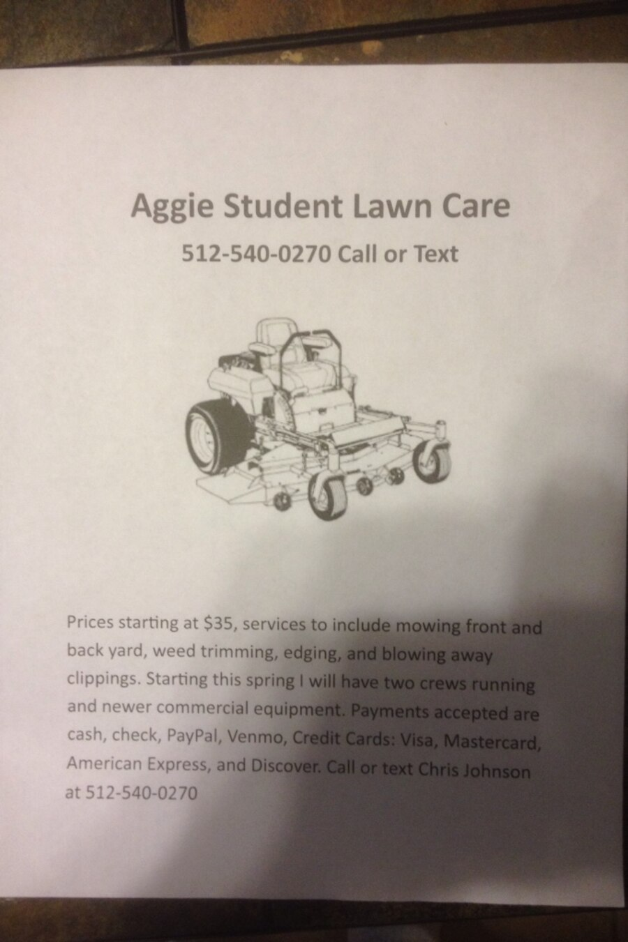 used aggie student lawn care in college station letgo
