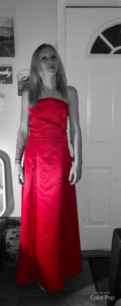 Photo Hot Pink/Red gown