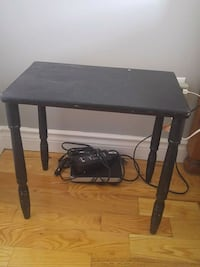 rectangular black wooden table with two chairs Dartmouth, B2W 5Z9