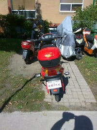 red and black motor scooter Toronto, M4C 1L7