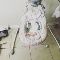 white and pink cradle and swing Tampa, 33613
