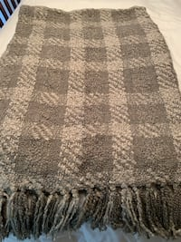 Woven Workz throw blanket  muted green plaid boucle   Arlington, 22201