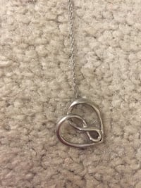 White gold infinity heart necklace London