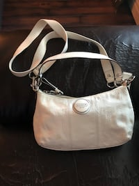 white Coach leather crossbody bag