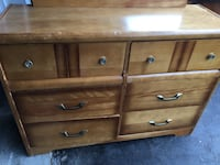 brown wooden dresser with mirror Vaughan, L4K 1K4