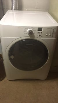 white Electrolux front-load natural gas clothes dryer in immaculate condition . Irvington, 07111