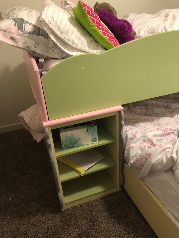 Used Green Wooden Loft Bunk Beds Frame For Sale In Colorado Springs