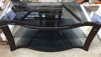 TV Stand, 3 Smoked Glass Shelves Dover, 17315