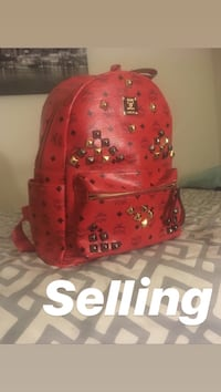 red and black leather MCM backpack Greater Landover, 20784