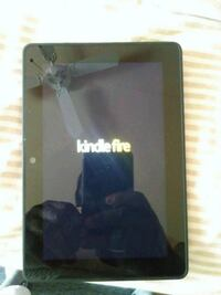 black Amazon Kindle Fire tablet....8in