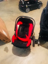 baby's black and red stroller Temple Hills, 20748