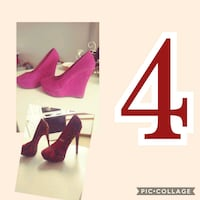 pair of pink suede platform stilettos Shreveport, 71106