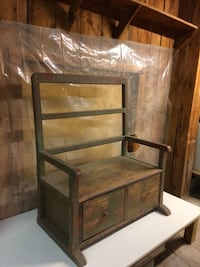 Antique Entry Bench- Solid nice entry piece,