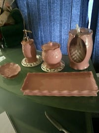 several brown ceramic assorted-type table wares New Westminster