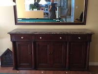 Brown wooden cabinet with mirror Mount Sinai, 11766
