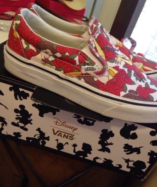 0a9b3bfacb6 Used Vans (Disney Belle Rose Edition) for sale in Richmond - letgo