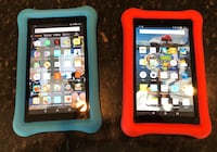 2 Kindle Fire 7 with kids case Midland, 22728