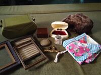 assorted accessories and photo frames