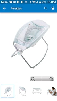 baby's white and pink rocker Macon, 31206