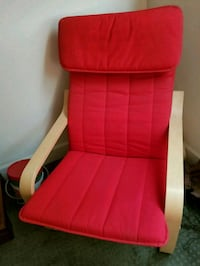 Padded armchair - red Golden, 80403