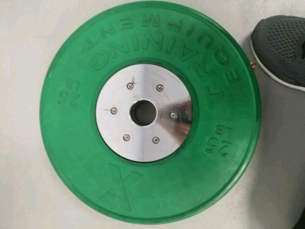 Competition bumper plates, one pair (25IB) 100$